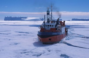 Astrolabe hits the ice pack
