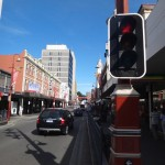 A shopping street, Hobart