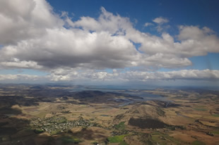 Arrival into Hobart