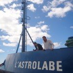 Emulating what is to come - renaming of the ship - GASTROlabe for the vomiting that is done on board.