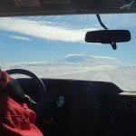 Driving across the Ross Ice Shelf