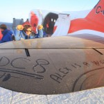 Sebastien... proud to have graffiti'd the plane... he wrote Alex is a Women (mis-spelt)