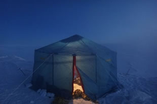 Camping in a tent in Minus 70 degrees Celcius