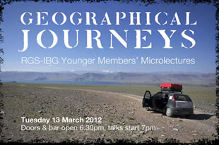Royal Geographical Society's: Microlectures series