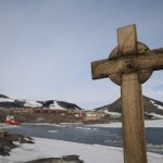 Cross in memory of Vince at McMurdo, Antarctica