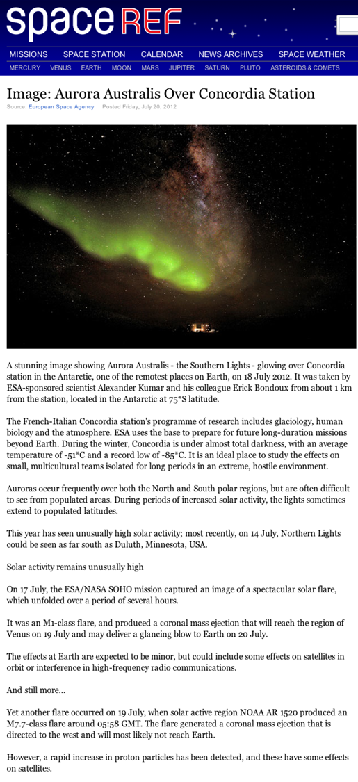 spaceREF - Aurora Australis