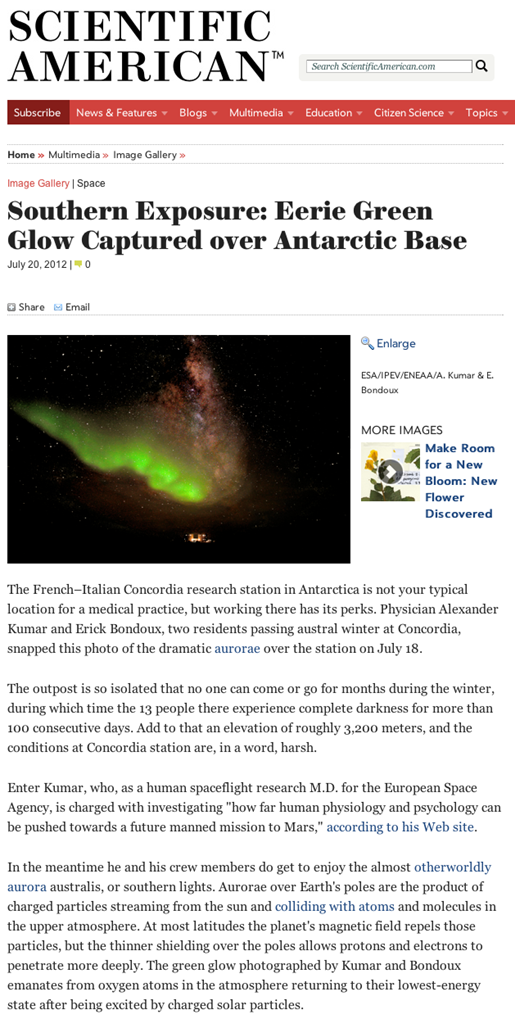 Scientific America - Aurora Australis