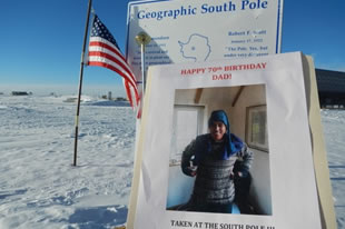Happy 70th Birthday Dad from Antarctica