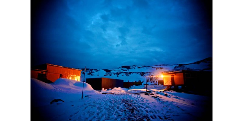 Polish Antarctic Programme's Arctowski Station by night, Antarctica - Alexander Kumar