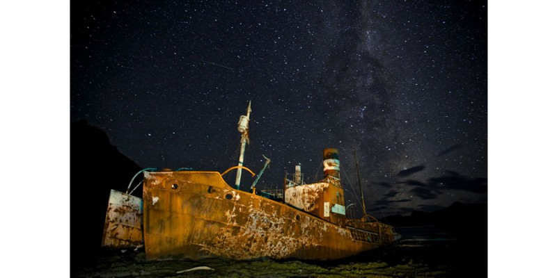 Ghost whalers by night (Whaling Stations of South Georgia, SubAntarctica, 2013) - Alexander Kumar