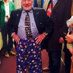 Space Pants - Buzz Aldrin with his new space pyjamas